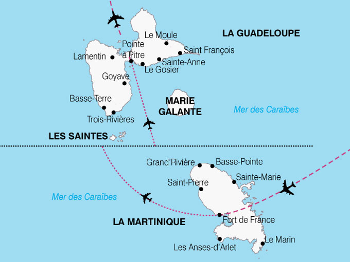carte-guadeloupe-martinique