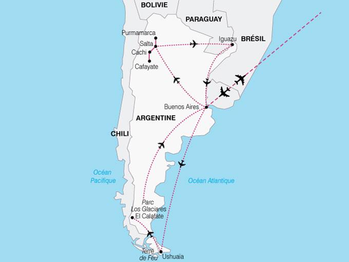 CARTE Argentine AltiplanoPatagonie  shhiver 206063