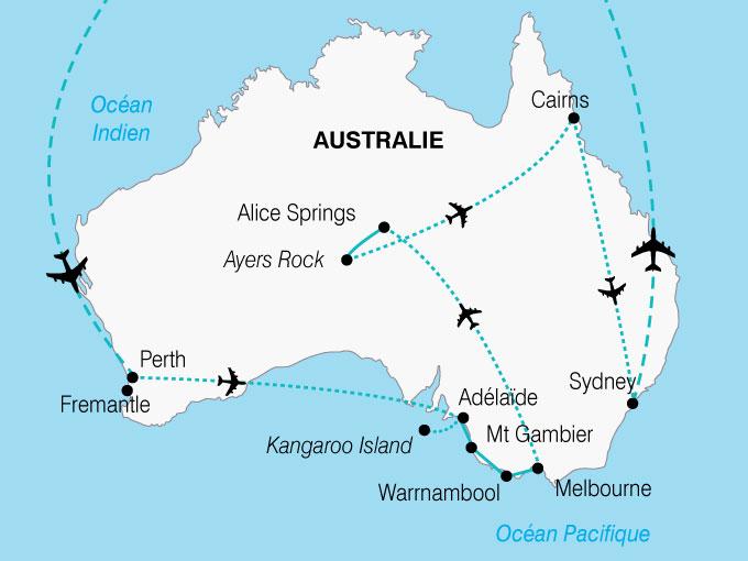 CARTE Australie Decouverte Continent  shhiver 534231