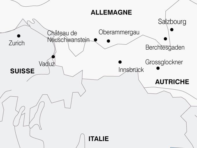 CARTE Autriche Allemagne Tyrol  shhiver 874364