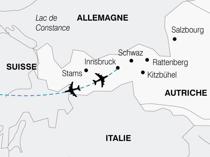 CARTE Autriche Le Tyrol  shhiver 578855