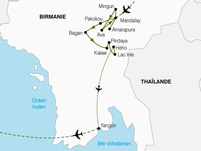 CARTE Birmanie Charme De Birmanie  shhiver 526845