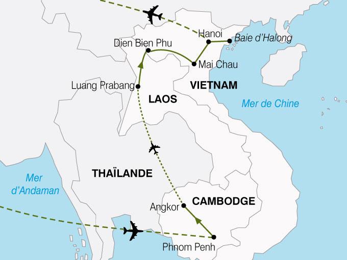 CARTE Cambodge Laos Vietnam  shhiver 745520