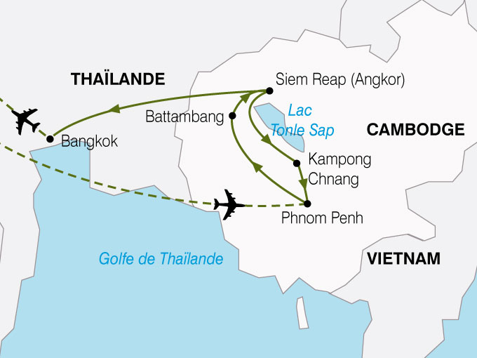 CARTE Cambodge Royaume Khmer  shhiver 466123