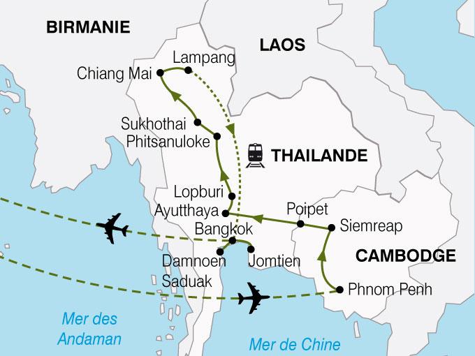 CARTE Cambodge Thailande  shhiver 223683