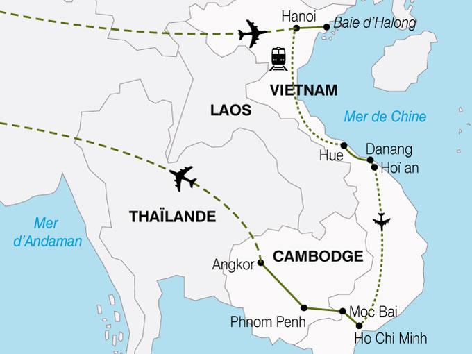 CARTE Cambodge Vietnam Charme  shhiver 152568