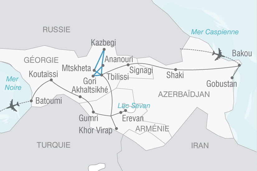 CARTE Caucase Azerbaidjan Georgie Armenie  shhiver 615102