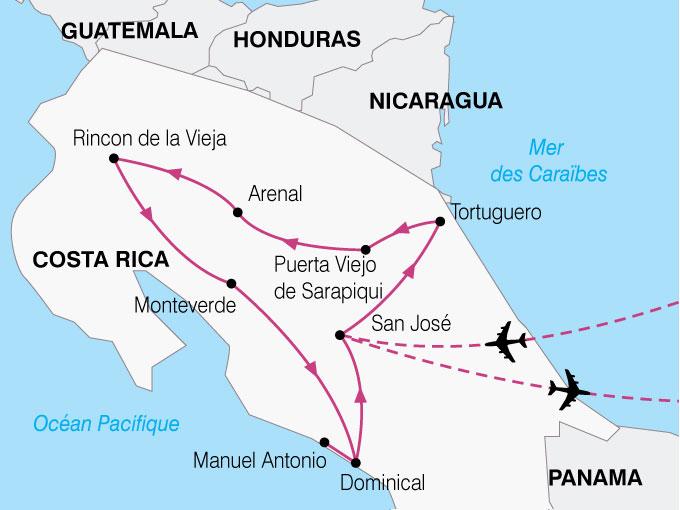 CARTE Costa Rica Paradis Vert  shhiver 178747