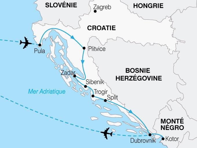 CARTE Croatie Grand Tour  shhiver 379666