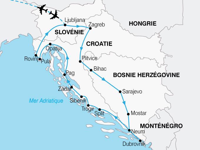 CARTE Croatie Splendeurs  shhiver 740456