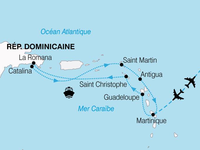 CARTE Croisiere Perles Antilles  shhiver 570190