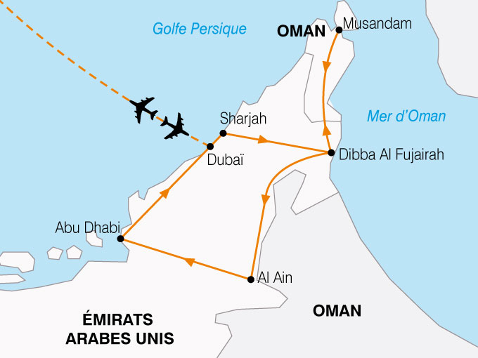 CARTE Emirats Pays Or Noir  shhiver 258621