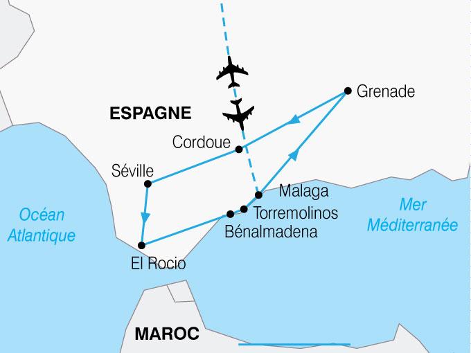 CARTE Espagne Andalousie Toute Liberte  shhiver 450178