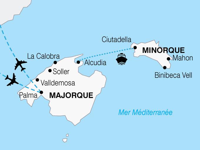 CARTE Espagne Baleares combi Majorque Minorque  shhiver 551602