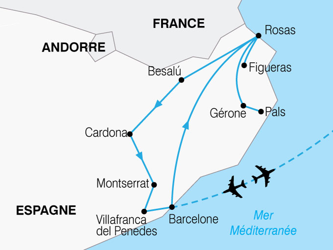 CARTE Espagne Barcelone Catalogne  shhiver 686265