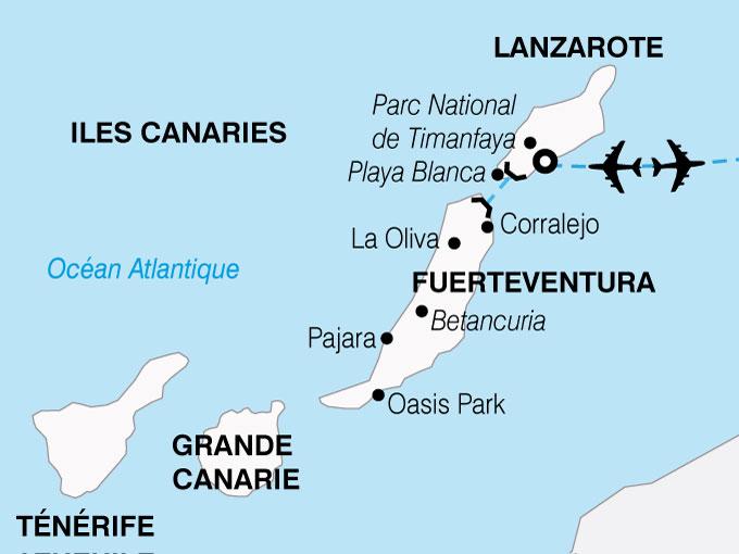 CARTE Espagne Canaries Combine Fuerteventura Lazarote  shhiver 888878