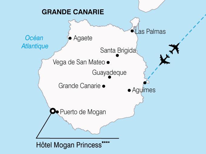 CARTE Espagne Canaries Grande Canaries  shhiver 306012