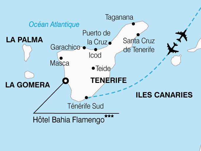 CARTE Espagne Canaries hotel Bahia Flamingo  shhiver 328905