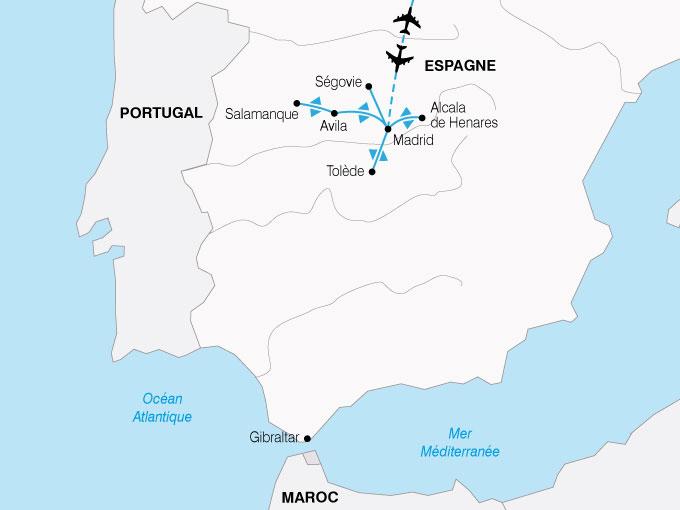 CARTE Espagne Des chateaux en Espagne  shhiver 673109
