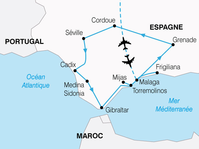 CARTE Espagne Splendeurs Andalouse  shhiver 274269