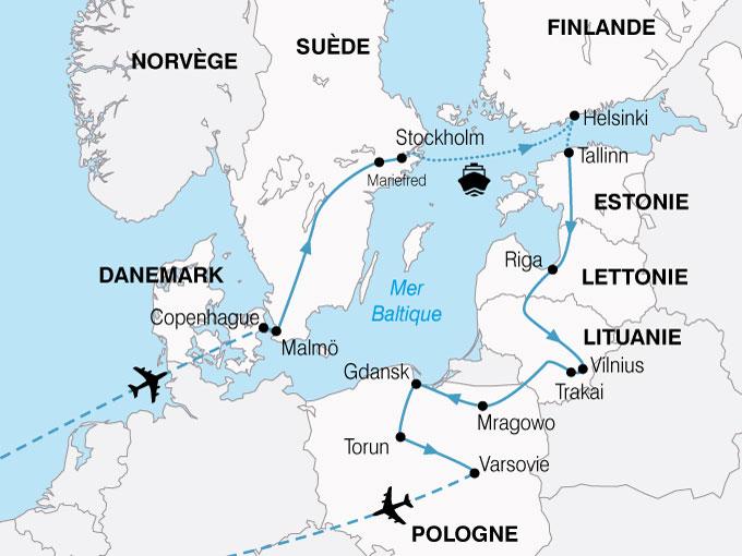 CARTE Europe Nord Grand Tour Baltique  shhiver 140844