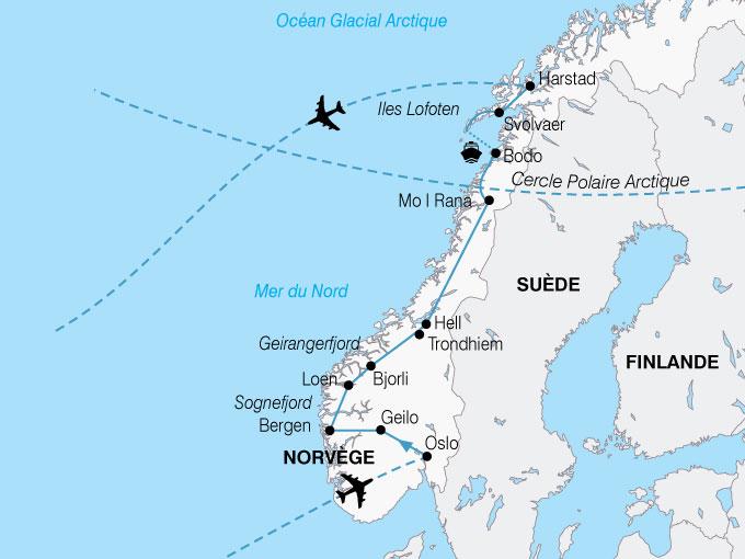 CARTE Europe Norvege Majestueux Fjords  shhiver 143207