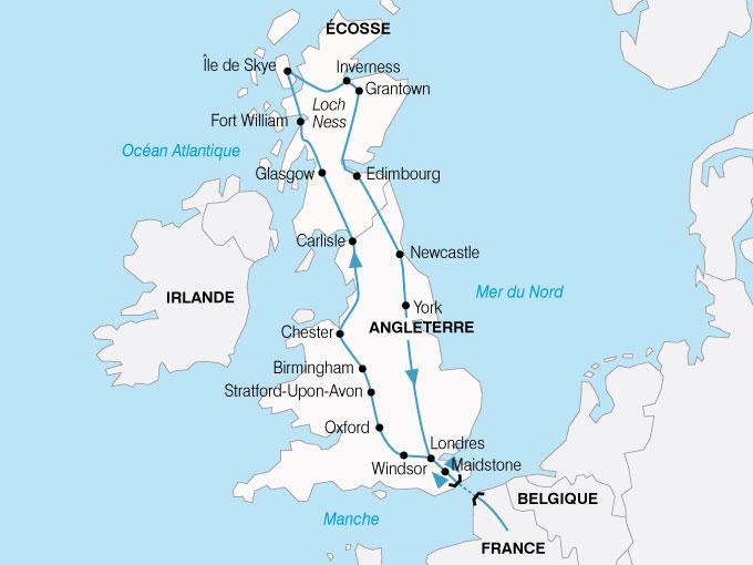 CARTE Europe Royaum Uni Angleterre Ecosse  shhiver 316918