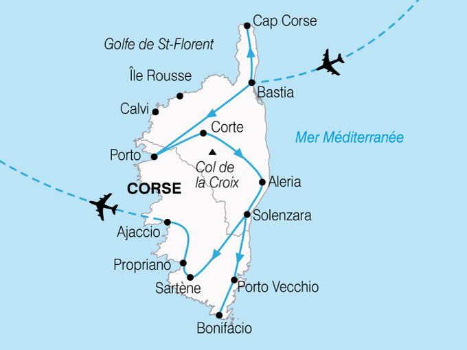CARTE France Corse Terre Mer  shhiver 726100
