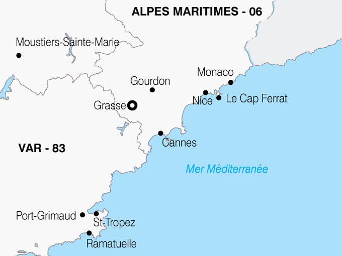 CARTE France Cote Azur  shhiver 105213