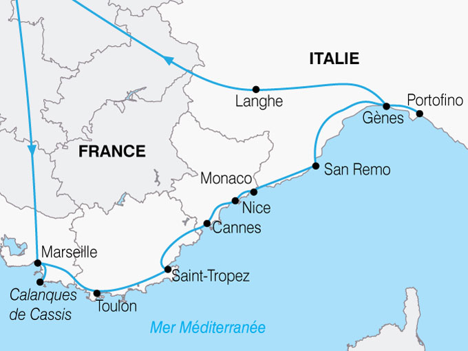 CARTE France Cote Azur Riviera  shhiver 137941
