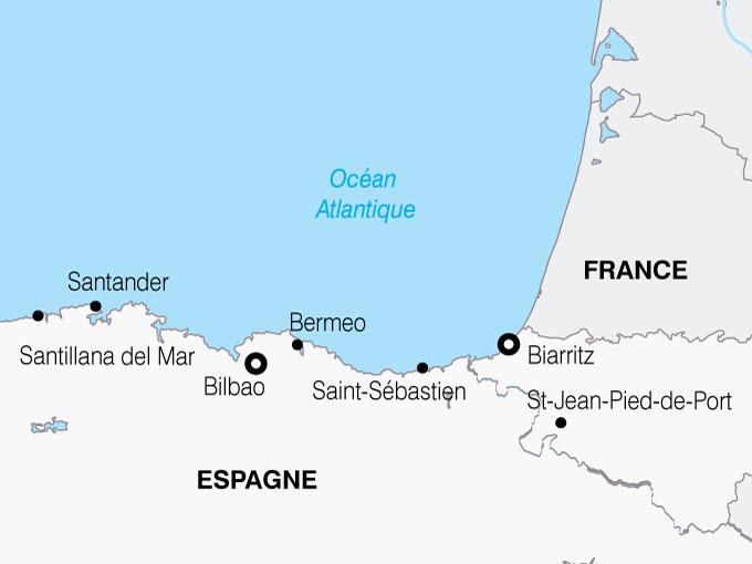 CARTE France Deux Pays Basques  shhiver 390451