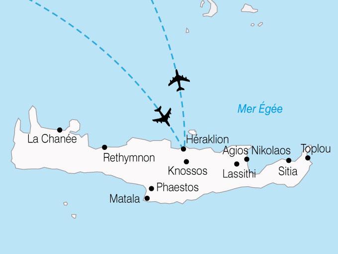 Carte Crete Sud Est.Circuit Grece La Crete D Est En Ouest Circuit Combine 8