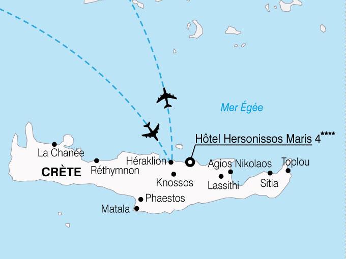 CARTE Grece Crete Hersonisso Maris  shhiver 180409
