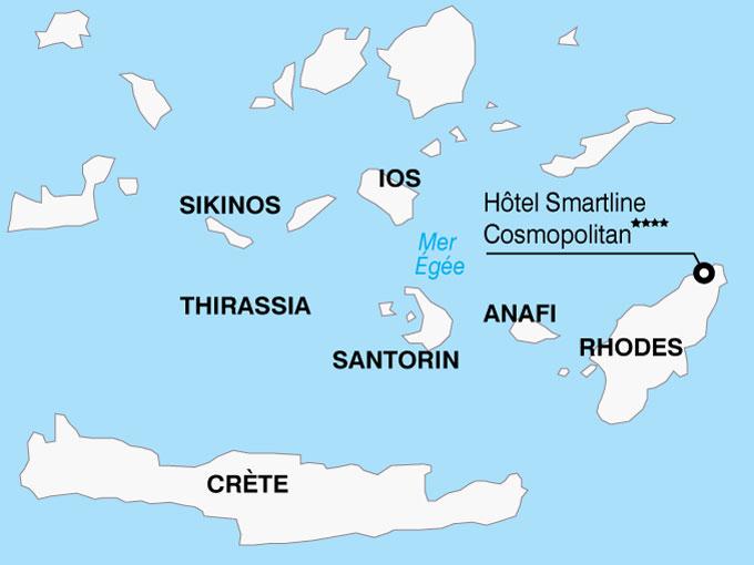 CARTE Grece Rhodes Hotel Smartline Cosmopolitan  shhiver 297516