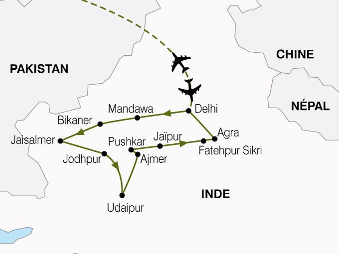 CARTE Inde Inde Nord Rajasthan  shhiver 612679