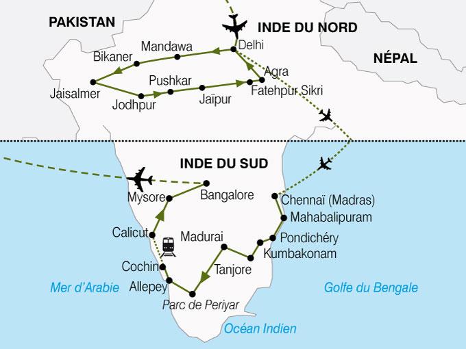 CARTE Inde Nord Sud  shhiver 229928