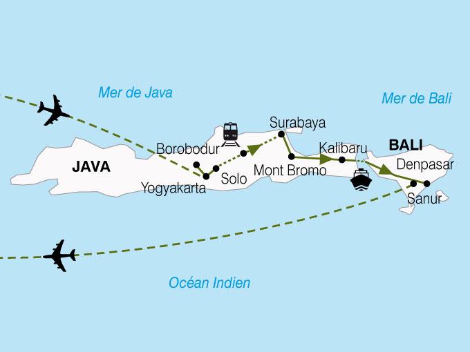 CARTE Indonesie Escapade Java Bali  shhiver 302552