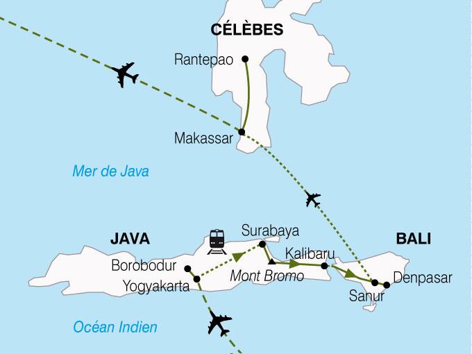 CARTE Indonesie Java Bali Celebes  shhiver 695425