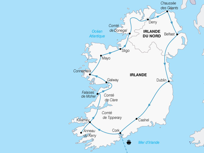 CARTE Irlande Deux Irlande Ile Unique  shhiver 855841