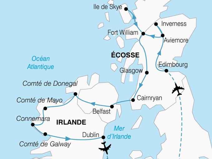 CARTE Irlande Ecosse Magies Celte  shhiver 369233