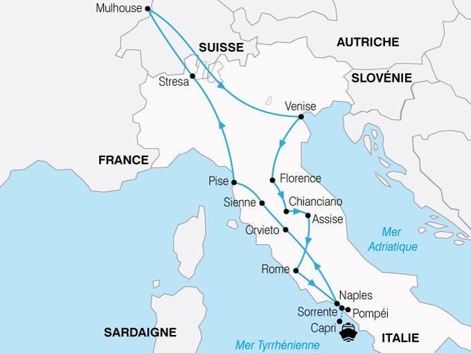 CARTE Italie Decouverte patrimoine Italien  shhiver 150419