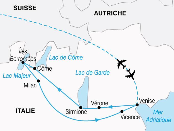 Les Lacs Italiens, Milan et Venise