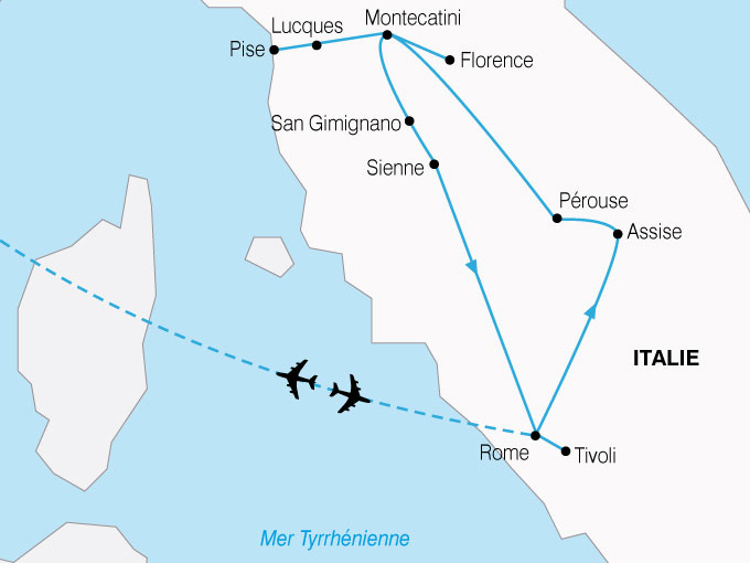 La Toscane et Rome