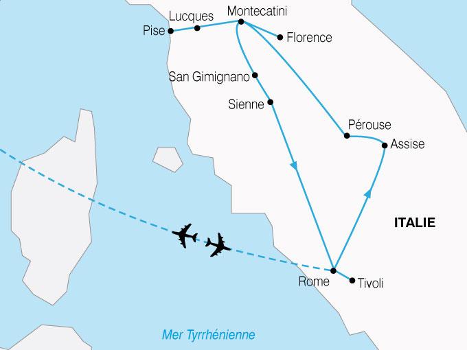 CARTE Italie Toscane Rome  shhiver 554091