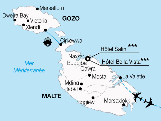 CARTE Malte Ile Chevaliers  shhiver 512573
