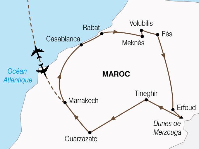 CARTE Maroc Cites Imperiales Magie Sud  shhiver 241667