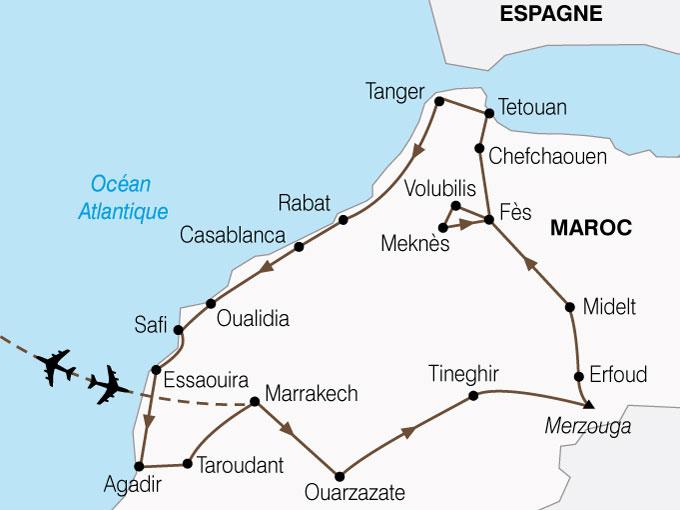 CARTE Maroc Grand Tour  shhiver 582986