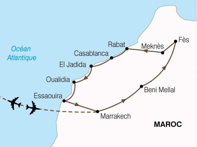 CARTE Maroc Villes Imperiales Cote Atlantique  shhiver 360373
