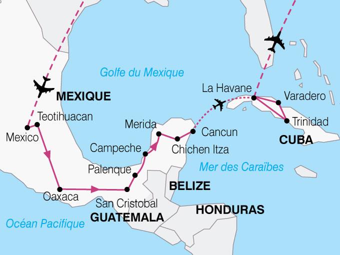 CARTE Mexique Cuba Mexico La Havane  shhiver 253570