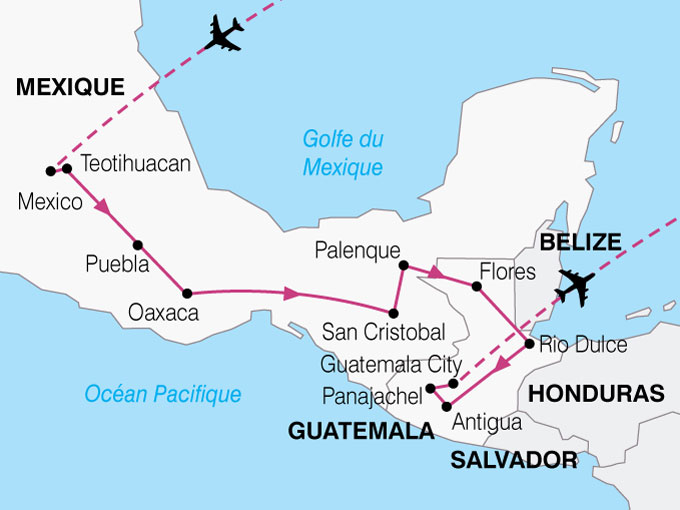 CARTE Mexique Guatemala Tresors Culture Maya  shhiver 415429